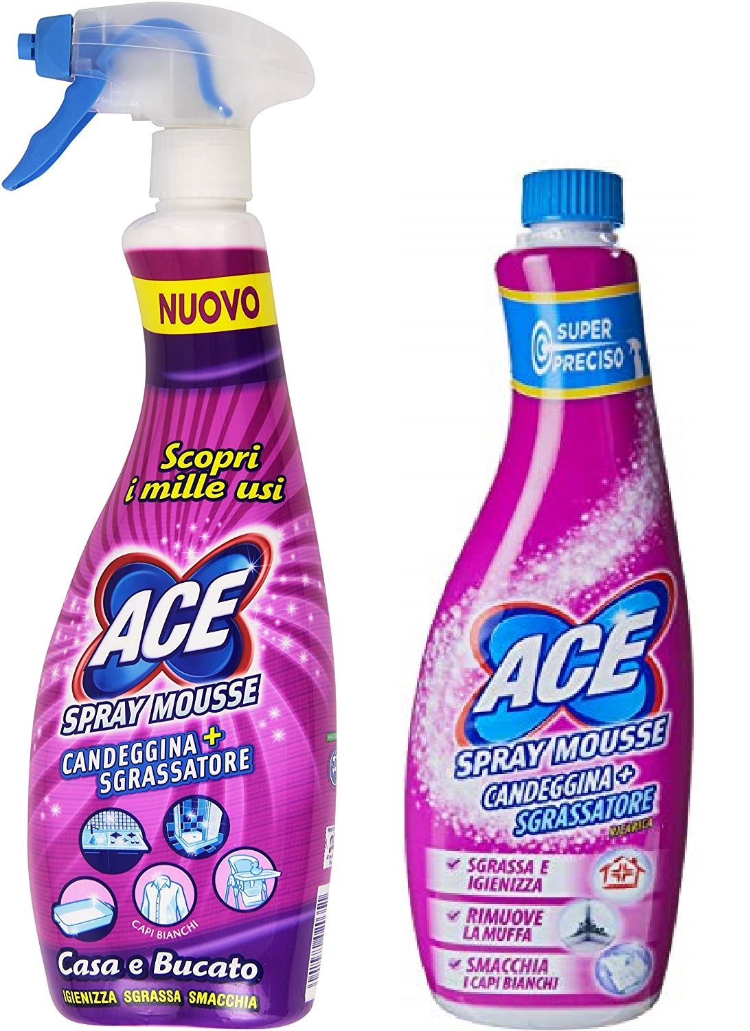 ACE SPRAY CANDEGGINA MOUSSE + RICARICA ARMONIA 750 ML