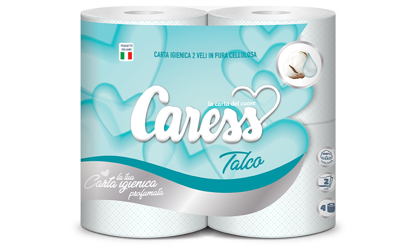 CARESS IGIENICA 4 ROTOLI 2 VELI TALCO NEW