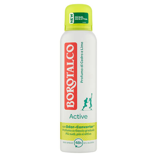 BOROTALCO DEO SPRAY ACTIVE GIALLO 150 ML